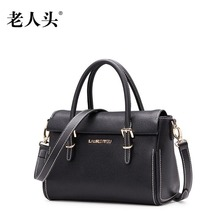 LAORENTOU new genuine leather bag famous brand luxury fashion Simple Superior cowhide leather women handbags shoulder bag