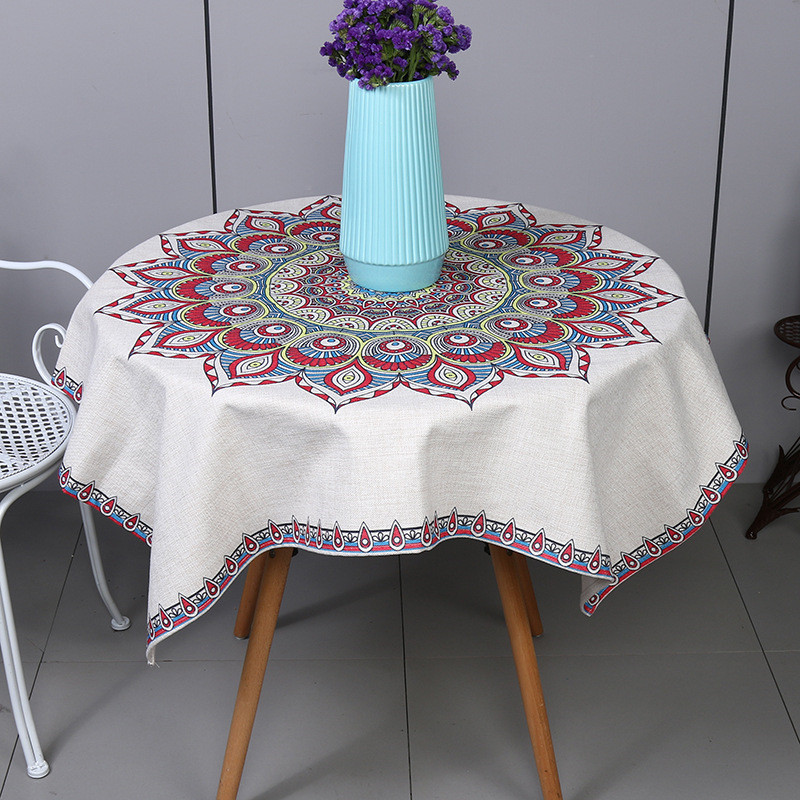 2017 Popular New Qualified Round Beach Pool Home Shower Towel Blanket Table Cloth Endless Flower Yoga Mat Decorate Tablecloth