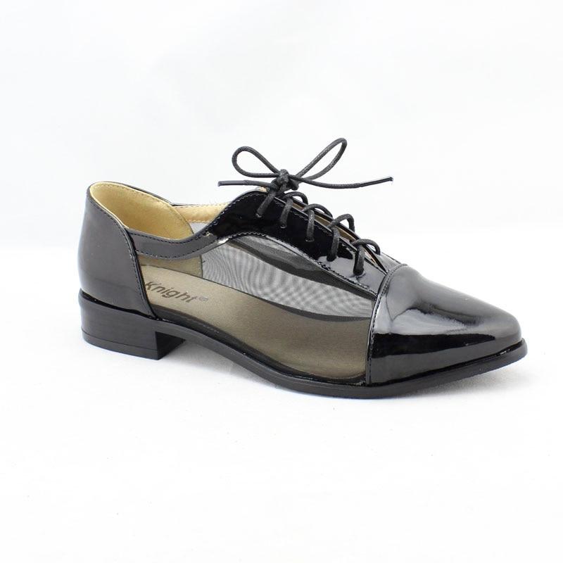 41ca00dc55581 Mode En Cuir Verni Respirant Lace Up Femmes Appartements Dames Plus La  Taille 34-43 Bout Pointu Casual Chaussures Plates D