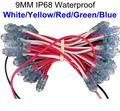 100 pcs 9mm letras canal de led pixel módulo string luz DC5V IP68 à prova d' água levou pontos de luz branco/vermelho/amarelo/azul/verde