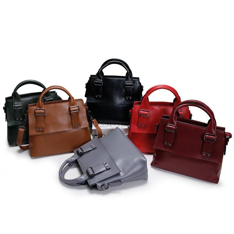 100% Genuine Leather Tote Bags Great Women Handbags 2017 Famous Brand Women Messenger Bags Big Ladies Shoulder Bags Bolsos Mujer