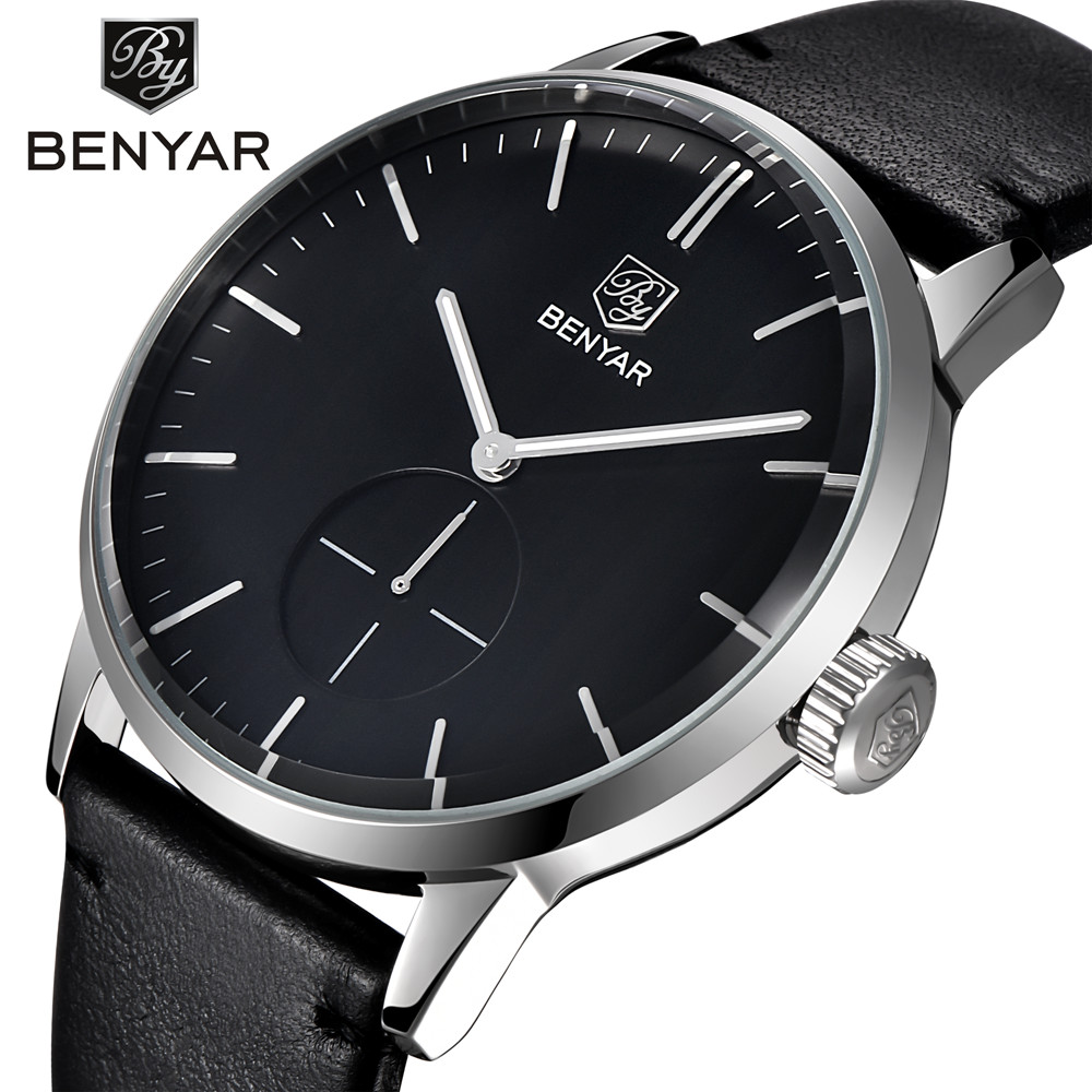 Fashion Quartz Watches Men Top Brand Luxury Men s Business Watch Casual Simple Leather Dress Watches