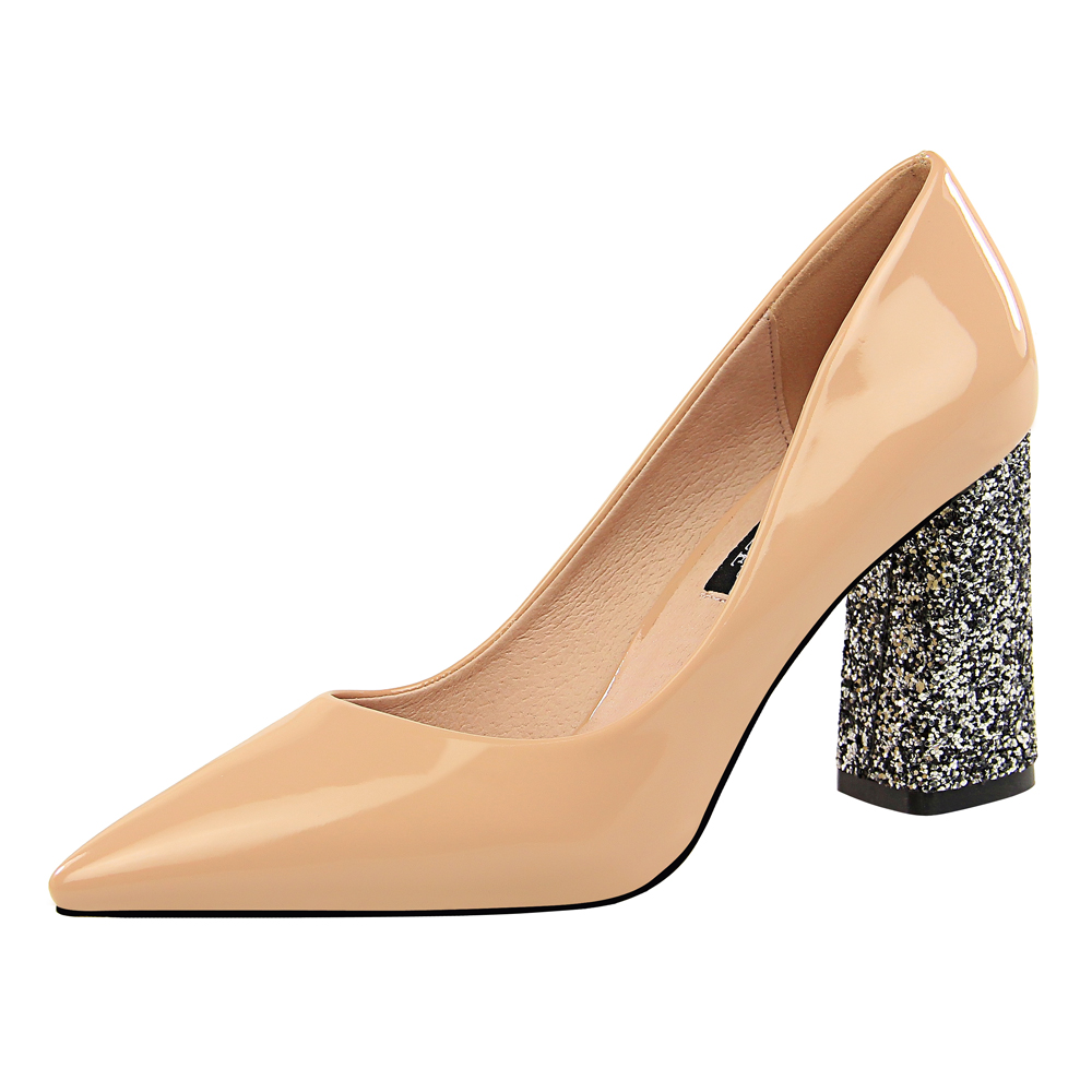 Hot Sale Sexy High Heels Shoes Women Pumps Ladies Shoes Bling Red Office Wedding Shoes 2019 New Leather Pointed Toe Pumps K0029 in Women 39 s Pumps from Shoes