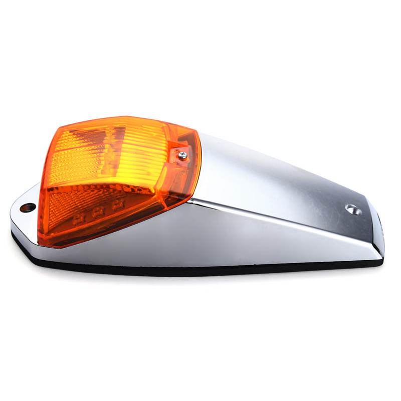 Universal Yellow Amber 17 LED Cab Truck Trailer Roof Top Marker Running Sign Lights Warning Light For Kenworth DC12V купить дешево онлайн