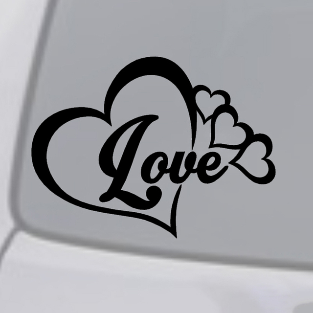 Love Heart Symbol Vinyl Decal Car Window Bumper Sticker Family