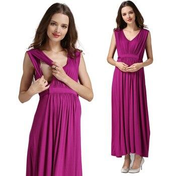 Emotion moms Women's Long Summer Maternity Dress 2