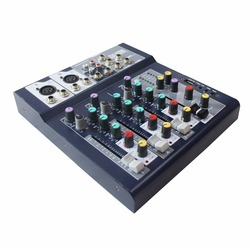 Ben & Fellows F Series 4-channel Multi-channel Analog Audio Mixer with 3-band channel equalizer and USB Audio Interface