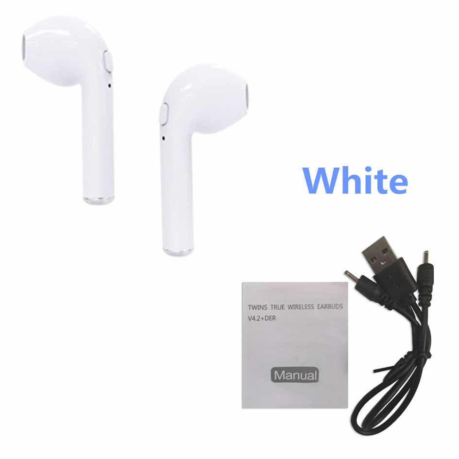 I7 I7S TWS Bluetooth Wireless Earbuds earphones Portable in ear Phone Earphone Handsfree With Mic for iPhone X 8 7 6 Android new