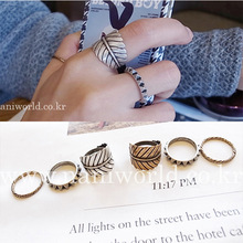 weet Fresh Leaves Ring Finger Ring Women Leaf Quality Metal Fashion Rings bohemian leaves circle finger ring