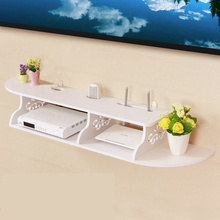 Wooden Floating Shelves Chic Wall Mounted Storage Holder Rack for CD TV DVD Book Display Home Organzier