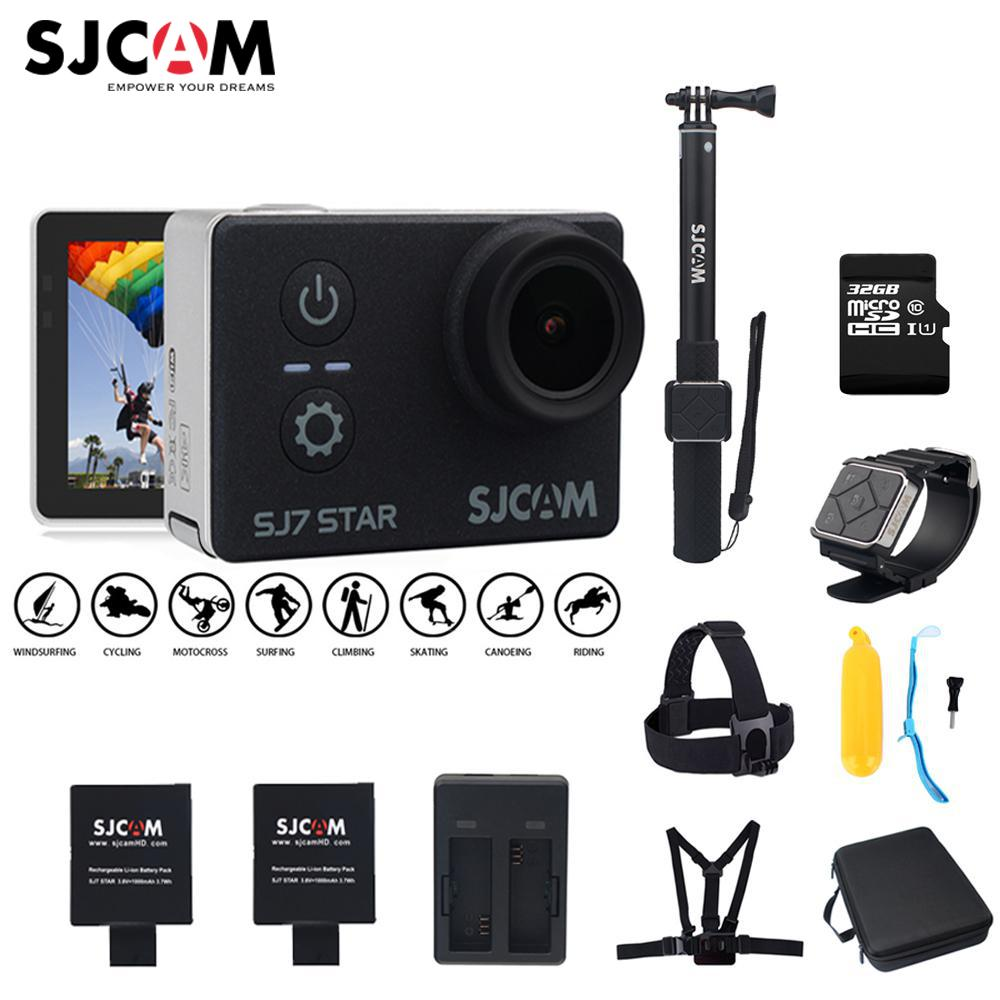 100% Original SJCAM SJ7 STAR Wifi 4k GYRO Touch Screen Ambarella A12S75 30M Waterproof Remote Sports Action Camera Car Mini DVR 2 0 4k sjcam sj5000 series sj5000x elite wifi ntk96660 mini gyro 30 waterproof sports action camera sj cam dvr many accessories