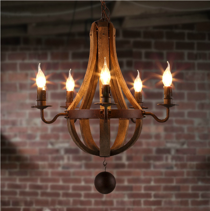 5/6/8 Head American Industrial Creative Oak Barrels Pendant Light  Loft Style Bar Light Creative Balcony Light Free Shipping manitobah унты half mukluk женск 6 oak бежевый