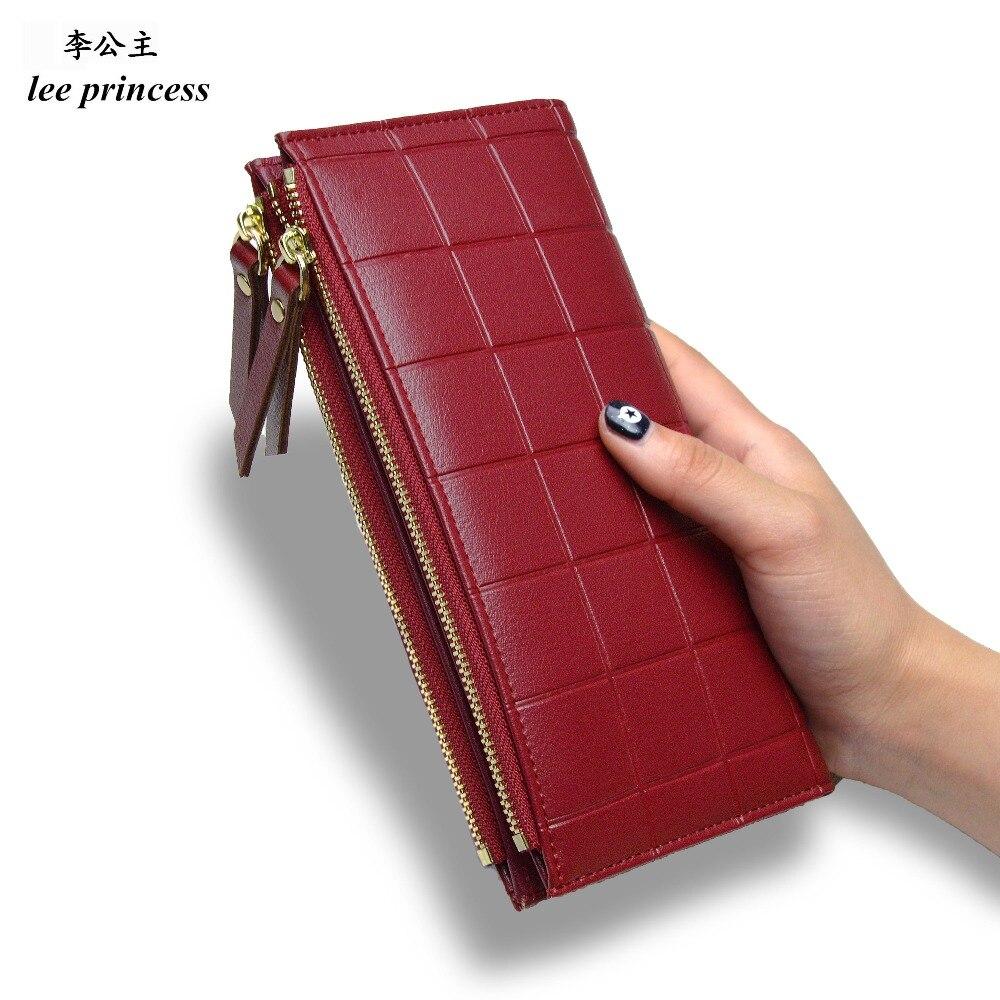 Lee принцесса бумажник для девочек телефон с двойной молнии портмоне Держатели Деньги Сумка Дамы Кошелек Для женщин тонкий кошельки женский