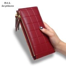 Lee кошелек принцессы для обувь девочек телефон с двойной молнией портмоне держатели мешок денег дамы кошелек для женщин тонкий женски