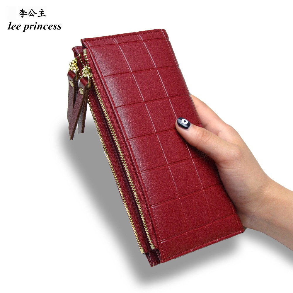 Lee princesa cartera para las niñas teléfono con doble cremallera monedero de dinero bolsa, bolso de las mujeres, monedero Slim, Mujeres