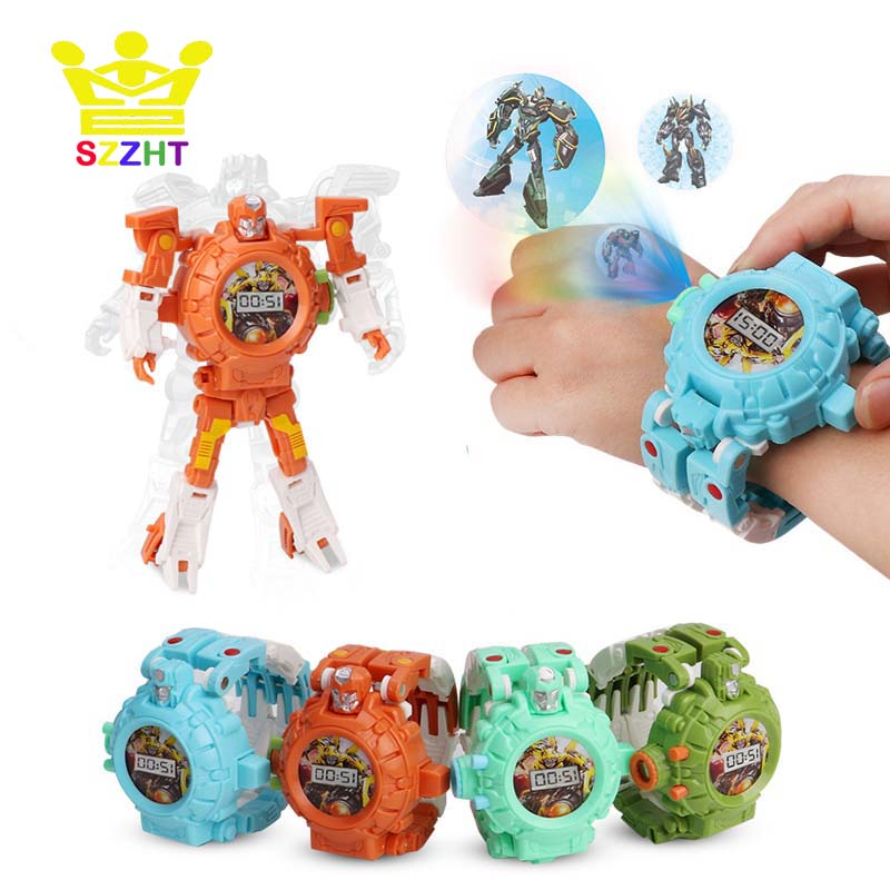 Robot Watch Projection Electronic-Toys Multifunction Kids Boys for Children Early-Educational
