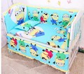 Promotion! 6pcs Baby Bedding Set Baby cradle crib cot bedding set cunas crib set,include (bumpers+sheet+pillow cover)