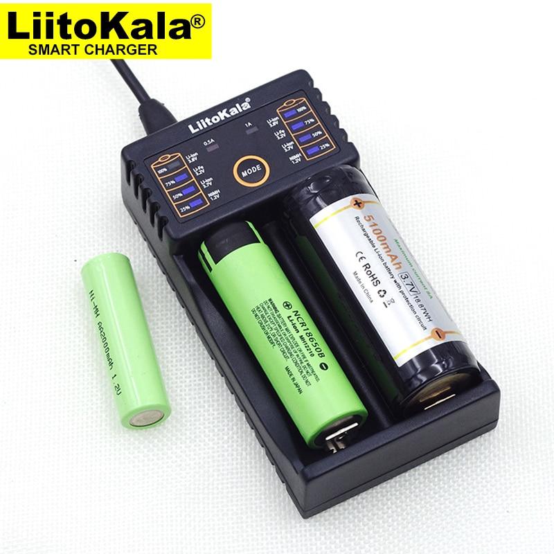 Liitokala Lii-202 100B Battery Charger, Charging 18650 1.2V 3.7V 3.2V AA / AAA 26650 10440 16340 25500 NiMH Lithium Battery