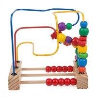 赤ちゃんのおもちゃ教育学習おもちゃ子供キッズベビー木製おもちゃ動き回るビーズ揺れガラガラマラカス