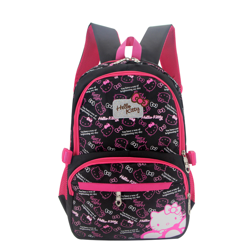 Cute hello kitty Backpacks Children schoolbag cartoon cat School Bags For  girls school Backpack kids bag Satchel Mochila escolar 0e7fd23b09d8d
