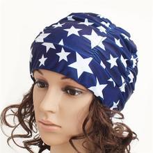 Плиссированная эластичная шапочка для плавания Защитная шапочка для плавания шапочка для купания для женщин