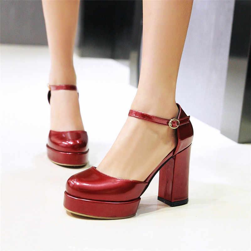YMECHIC 2018 Womens Mary Jane Platform High Heel Shoes
