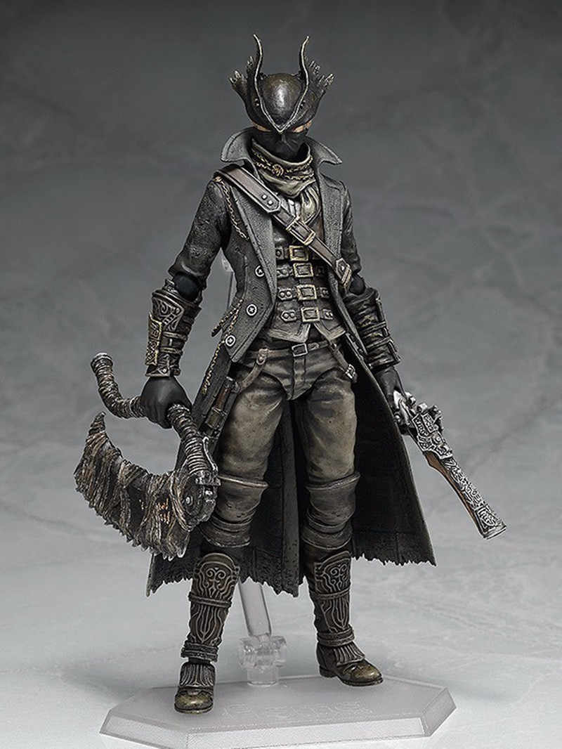 NEW ARRIVAL Bloodborne Games Figure Hunter Figma 367 PVC Action Figure Model Collection Toy Doll Gifts 15CM