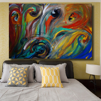 Wall Art Picture Canvas Prints Abstract Acrylic Oil Painting on Canvas for Living Room no Framed Home Decor