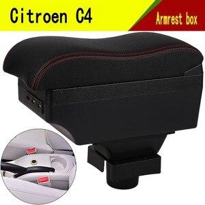 Для Citroen C4 подлокотник коробка центральный магазин содержание коробка Citroen подлокотник продукты интерьера украшение хранилище центральная...