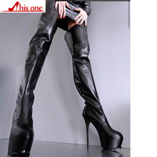 THIS ONE Brand Design Big Size 35-47 Sexy Women Shoes Woman 2019 Party Super High Heels Quality zip Over The Knee Boots