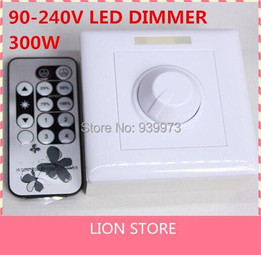 110 V 220 V 300 W 8A ir dimmable control remoto por infrarrojos 220 V-240 V LED dimmer para LED Spotlight luz 200 W con el regulador del ir