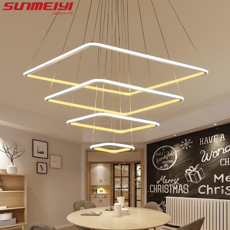 Modern 3 square rings led lamp Pendant Lights For Living Room Dining room light Pendant Lamp Hanging Ceiling luminaire LED Lamp издательство аст сакура и дуб ветка сакуры корни дуба