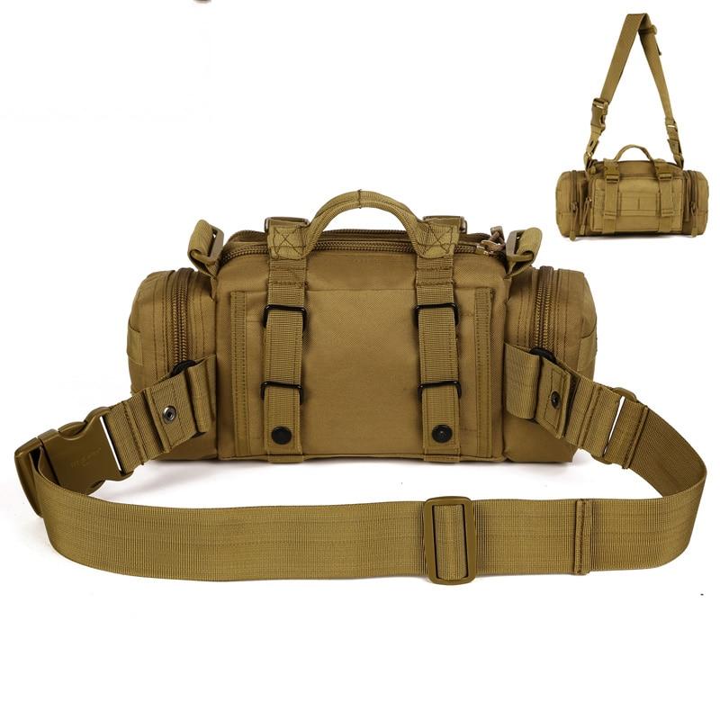 Prix pour Hommes Nylon Militaire Tactique Muilt fonction Messenger Épaule Sac Fanny Pack sac de Taille/Grand Sac À Main A3111