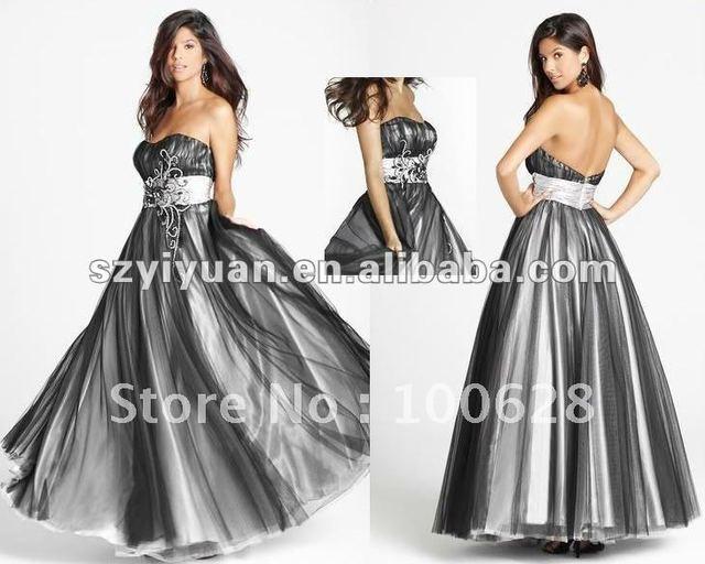2012 sexy wild strapless beaded crystal grey prom dress