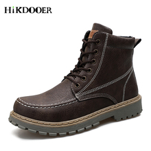 Brand Men's Boots Martens Leather Winter Warm Shoes Motorcycle Mens Ankle Boot Doc Martins Autumn Men Oxfords Shoes brand men s boots new martens casual leather doc martins boot mens military shoes work safety shoe askeri bot size 35 46 zapatos