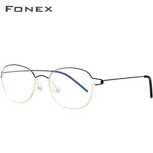 Image 2 - 린드버그 디자인 티타늄 합금 광학 프레임 처방 안경 근시 무나사 안경테 남녀공용 98618
