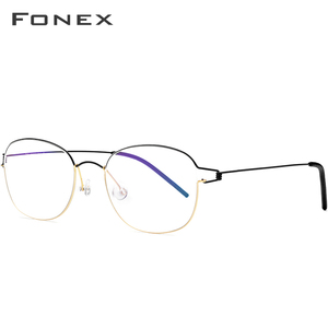 Image 2 - FONEX טיטניום סגסוגת משקפיים מסגרת גברים מרשם משקפיים קוריאני דנמרק נשים קוצר ראיה מסגרת אופטית ללא בורג Eyewear 98618
