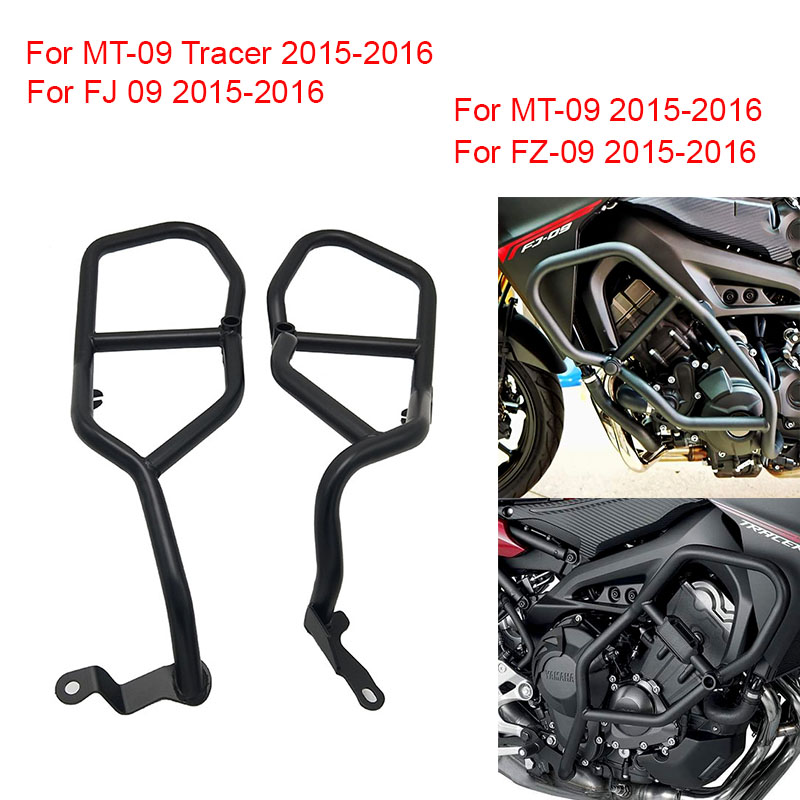 For Yamaha MT-09 FZ09 MT09 Tracer FJ09 2015 2016 Motorcycle Engine Protetive Guard Crash Bar Protector FJ 09 MT 09 Tracer FZ-09 high quality motorcycle radiator grille guard cover protector for yamaha mt 09 fz 09 fj 09 mt fz fj 09 2013 2014 2015 2016