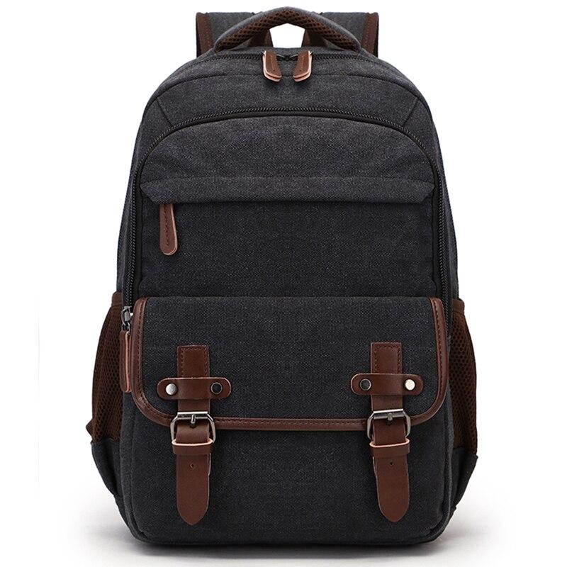 Canvas Rucksack Bag Women Vintage Men Backpack Shoulder Bags Female Plecak Male Travel Backpacks Multifunction Mens Back Pack