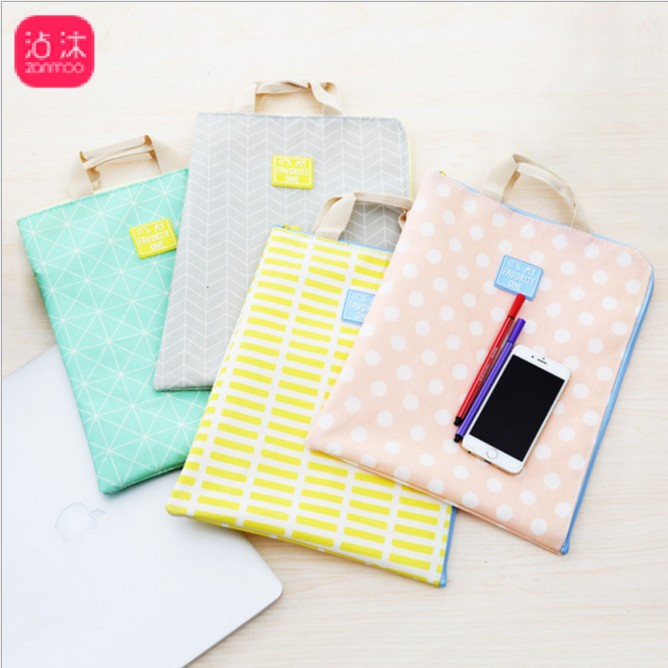 35cm Hard Fabric Portable Multilayer A4 Document File Folder Bag Waterproof Briefcase Book Laptop Bag Office School Stationery