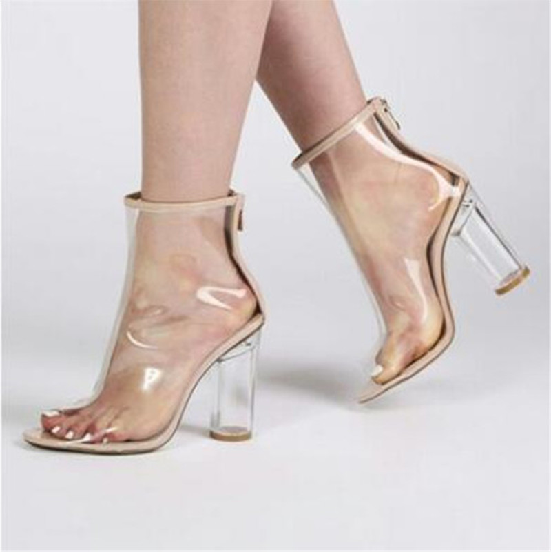 popular clear ankle boots buy cheap clear ankle boots lots