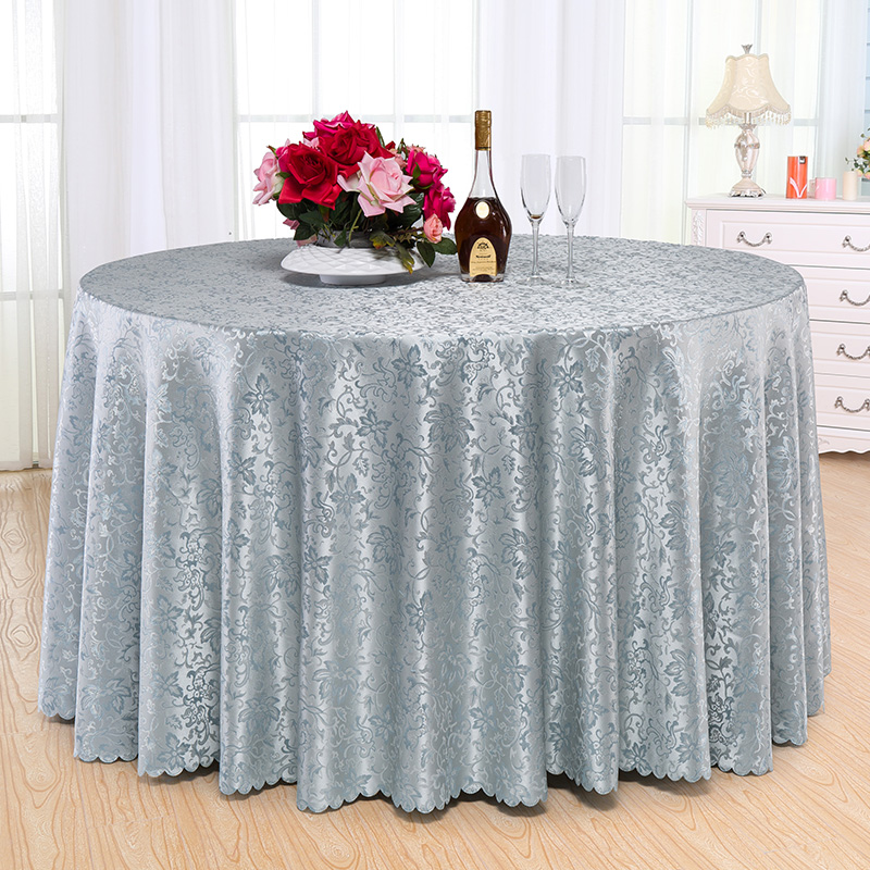 Luxury Polyester Round Table Cloth Rectangular Tablecloth Hotel Party  Wedding Restaurant Tablecloth Christmas Decoration Cloth
