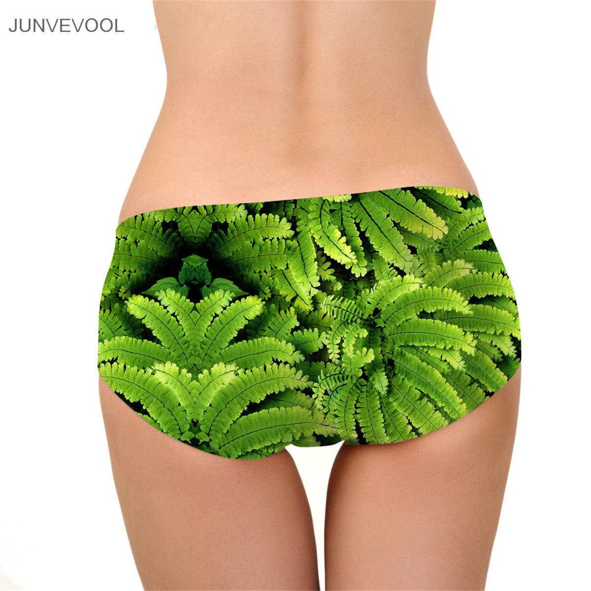 Crotchless Ultra-thin Comfort Underwear Eyes on The Leaves Print Seamless Panties for Women Sexy Briefs Women Sexy Underpants