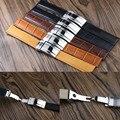 Aotu relógio de forma cinta ddapter drowner daytona black brown pulseira de couro genuíno fivela dobrável 19/20mm para rolexwatch homem