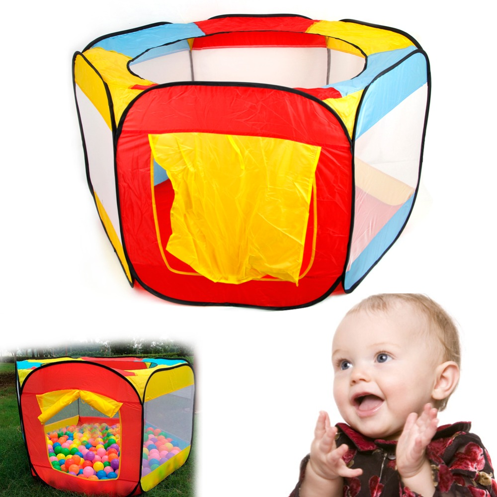 1PC Funny Children Kids Play House Indoor Outdoor Easy Folding Ball Pit Hideaway Tent Furniture Home Decor foldable play tent kids children boy girl castle cubby play house bithday christmas gifts outdoor indoor tents