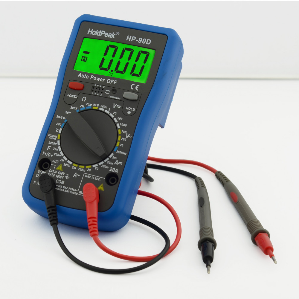 купить Holdpeak Multimeter Digital Professional Digital Multimeter Meter Multimetro Digital Temperature frequency capacitance Tester по цене 2120.84 рублей