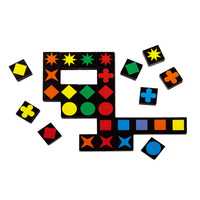 New Arrive Educational Toys Qwirkle Wooden Chess Parent Child Interactive Games Toys For Kids And Adults