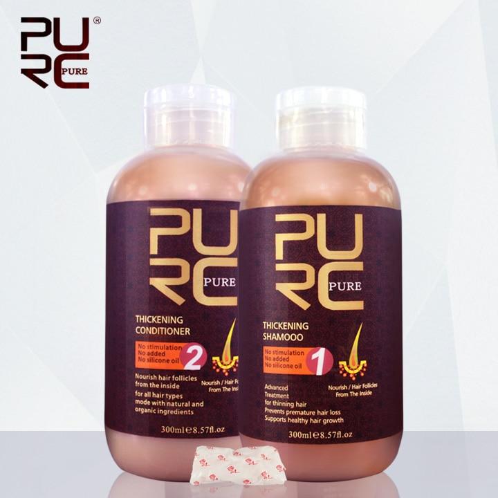 PURC heißer verkauf verhindert vorzeitige für haarausfall 300ml verdickung shampoo und haar conditioner beste haar pflege set