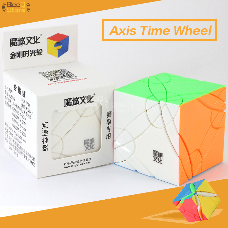 MoYu Axis Time Wheel Cube Magic Cube Puzzle Toy For Competition Black Stickerless Strange-shape Twist Cube Hight Difficult