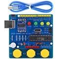 Плата разработки UNO R3, ATmega328P, модуль CH340, драйвер с зуммером, светодиодный, для Arduino UNO R3 - Blue